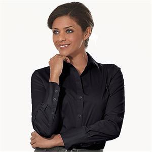 Black - Calvin Klein Micro Herringbone Ladies' Dress Shirts