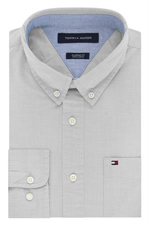 Vapor Blue 13H1861 Tommy Hilfiger Men's Chambray Shirts