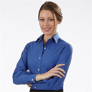 Blue Berry - Van Heusen Womens Varsity Check Long Sleeve Dress Shirts