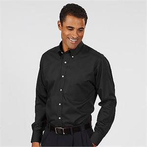 Black - Van Heusen Men's Twill Long Sleeve Dress Shirts