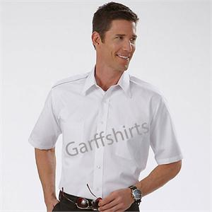 Eagle Hem Pocket Pilot Shirts - Short Sleeve Pilot Uniform Shirts aaron richman