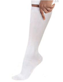14300 - WHITE Landau Knee High Compression Socks - 1 PR, aaron richman