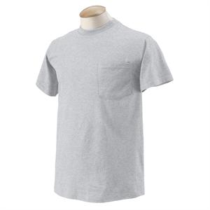 Ash - 3931P Fruit of the Loom Pocket Tee Shirts