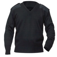 Commando Uniform Sweater with velcro epaulet flaps.