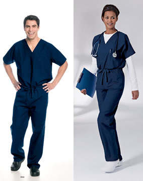 Landau 7502 Landau 7502 Men's & Women's Unisex Reversible Scrubs Tops
