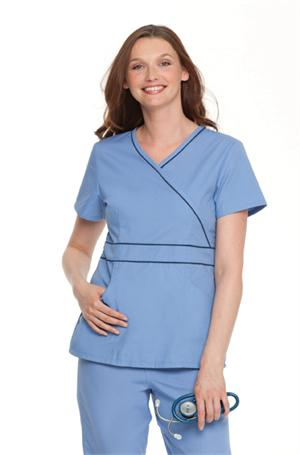 Currently Editing: Landau 8119 Landau 8119 Banded/Piping Crossover Tunic