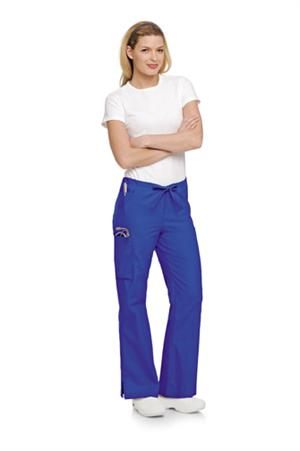 Landau Scrubs 8355 Landau 8355 Flare Cargo Womens Scrub Pants - Royal Blue