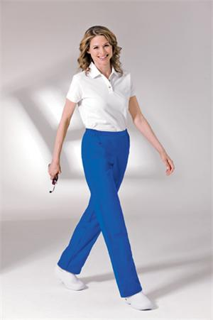 Landau Scrubs 8369 Landau 8369 Flat Front Womens Scrubs Pant - Royal Blue