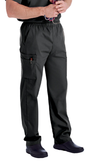 Landau Scrubs 8555 Landau 8555 Mens Scrubs Cargo Pants - Black