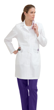 8723 Landau J-Pocket Lab Coat