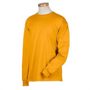 Gold - HD6LR Fruit of the Loom Long Sleeve T-Shirts