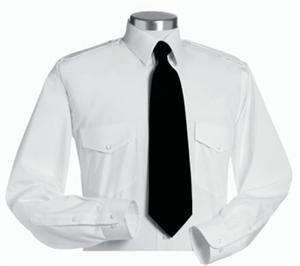 Mens Van Heusen The Aviator LONG SLEEVE White Pilot Uniform Shirts