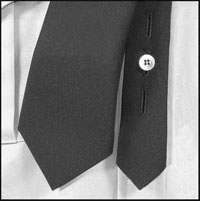 Men's Regular Uniform Neck Tie with Buttonholes