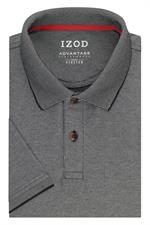 Coal Grey IZOD 13GK461 Mens Natural Stretch Polo Shirts