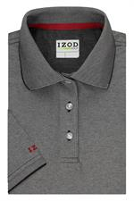 Coal Grey IZOD 13GK462 Womens Natural Stretch Polo Shirts