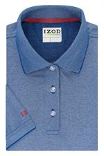 Clear Water Blue IZOD 13GK462 Womens Natural Stretch Polo Shirts