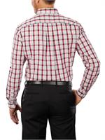 Apple Red Tommy Hilfiger 13H1860 Mens Cotton Baron Plaid Dress Shirts