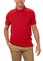 Apple Red Tommy Hilfiger 13H1867 Mens Pique Polo Shirts