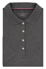 Medium Grey Heather Tommy Hilfiger 13H4534 Womens Pique Polo Shirts