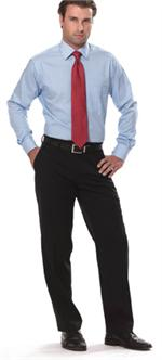 Black - Van Heusen Mens 100% Polyester Pants