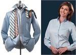 Van Heusen Ladies - Womens Long 13V0011 & Short 13V0014 Sleeves Button Down Collar Blended Oxford Dress Shirts