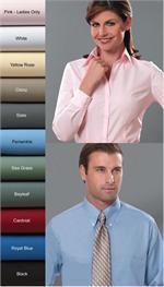 Van Heusen Mens and Womens Silky Poplin Long Sleeve Dress Shirts
