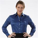 Blue Berry - Van Heusen Ladies Sateen Long Sleeve Dress Shirts