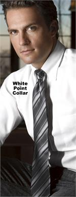 Van Heusen 13V0350 - Men's Blended Pinpoint Oxford L/S Point Collar Dress Shirts