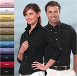 Van Heusen 13V0527 LADIES-WOMENS 3/4 length Dress Twill Dress Shirts