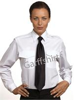 Womens-Ladies Van Heusen The Aviator LONG SLEEVE White Pilot Uniform Shirts aaron richman