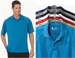 IZOD 13Z0098 Performance Polyester Raglan Tonal Graph Check Polo Shirts