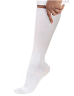 14300 - WHITE Landau Knee High Compression Socks - 1 PR