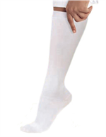 14301 - WHITE Landau Knee High DIAMOND Compression Socks - 1 PR