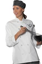 womens chef coat,ladies chef coat,chef coat,womens chef jacket,ladies chef jacket
