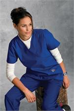 Landau Scrub Zone 70224 ScrubZone 70224 Faux Wrap Tunic - Royal Blue