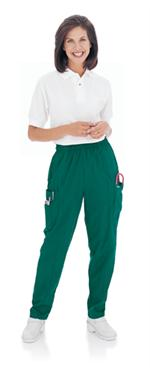 Landau Scrubs 8501 Womens Cargo Elastic Waist Scrubs Pant - Hunter Green