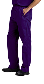 Landau Scrubs 8550 Landau 8550 Mens Elastic Waist Pants - Grape