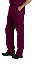 Landau Scrubs 8550 Landau 8550 Mens Elastic Waist Pants - Wine Red