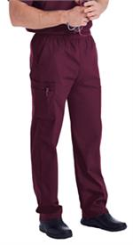 Landau Scrubs 8555 Landau 8555 Mens Scrubs Cargo Pants - Wine Red