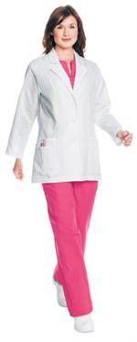 8716 Landau Women's Pintuck Lab Coat
