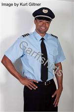 BLUE The Aviator SHORT SLEEVE Pilot Uniform Shirts - Photo by Kurt Giltner