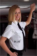 Womens BLUE The Aviator Short Sleeve Pilot Shirts - Photo by Kurt Giltner aaron richman