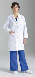 Landau 3165 Landau 3165 Womens Traditional iPad Lab Coat - White
