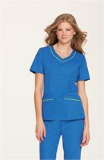 Landau 8109 Landau 8109 Rounded V-Neck Tunic