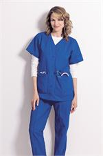 Landau Scrubs 8232 Landau 8232 Snap Front V-Neck Tunic Solids