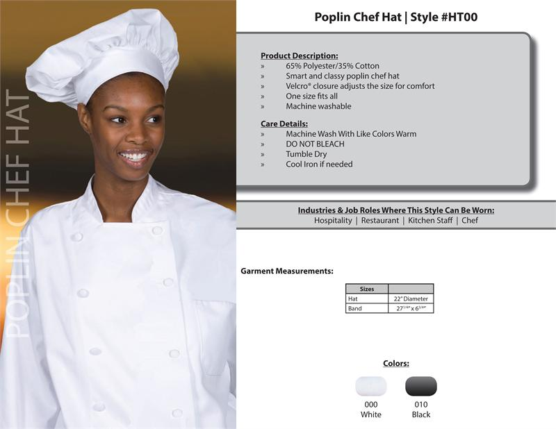 Traditional Chef Hat - HT00