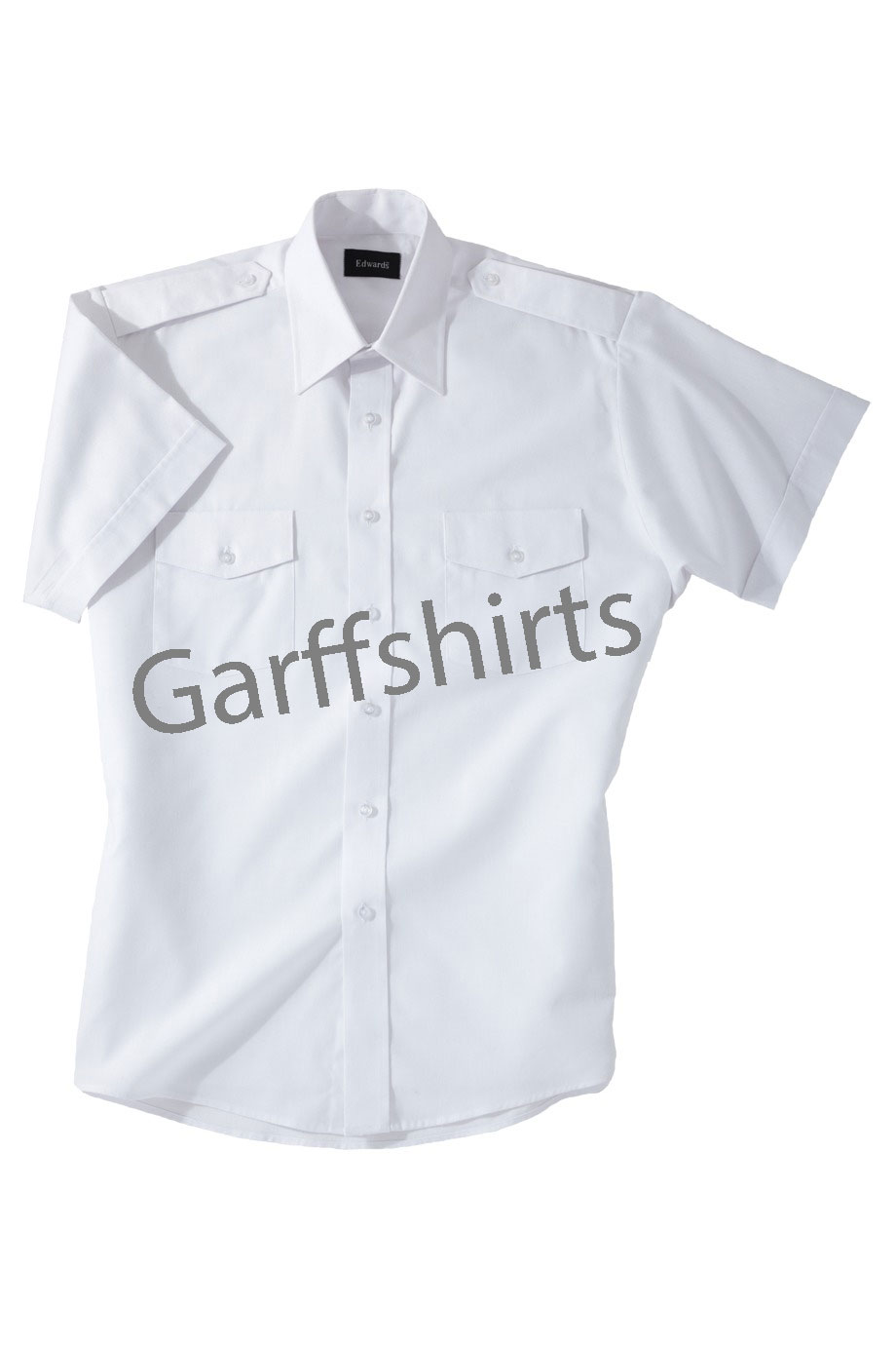 Edwards Pilot Uniform Shirts - Edwards Navigator Uniform Shirts - Long and Short Sleeve White Pilot Uniform Shirts