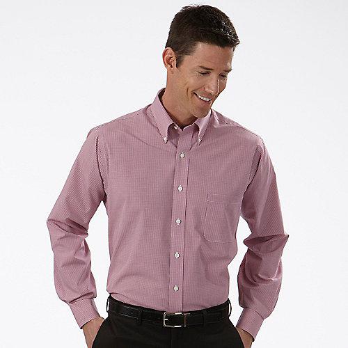 Van heusen dress shirts mens gingham long sleeve dress shirts for Tailored shirts for men