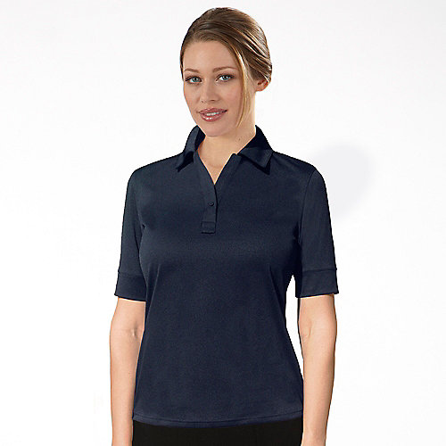 Izod polo shirts 13z0117 izod performance polyester womens for Womens button up polo shirts