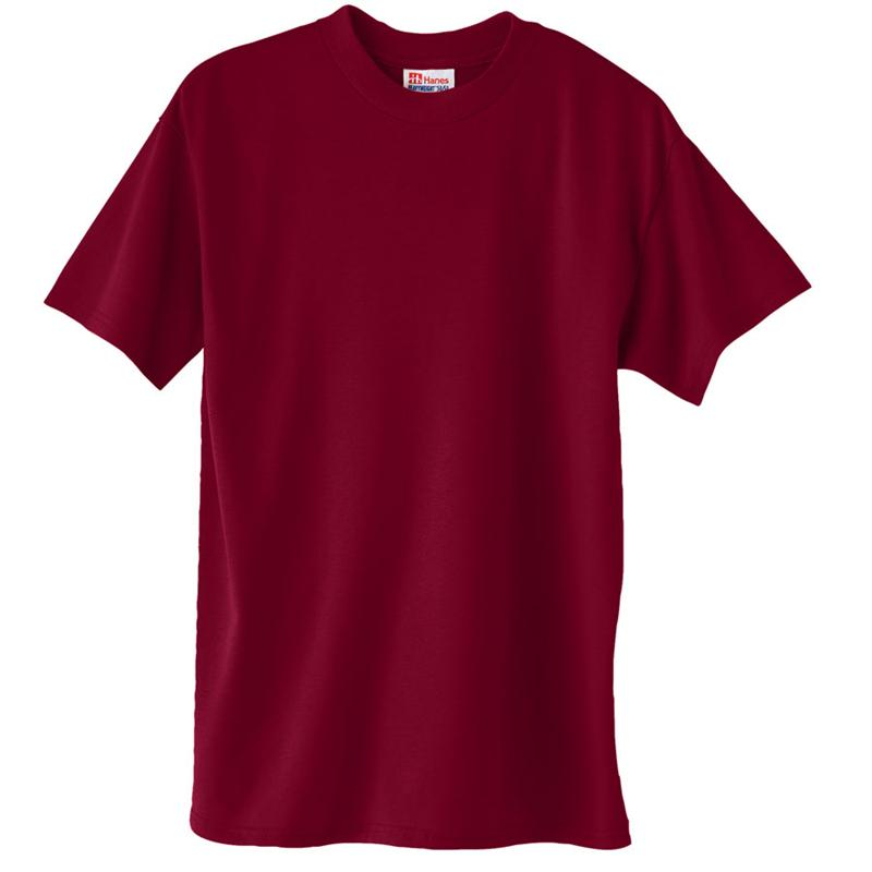 Hanes 5170 comfortblend tee shirts 5 2 oz 50 for Poly blend t shirts wholesale